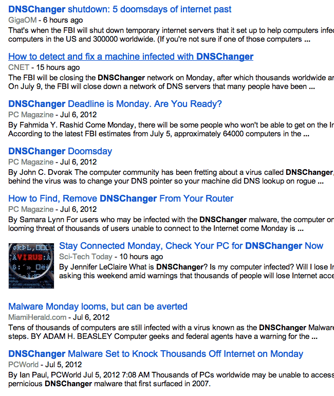 DNS News Headlines