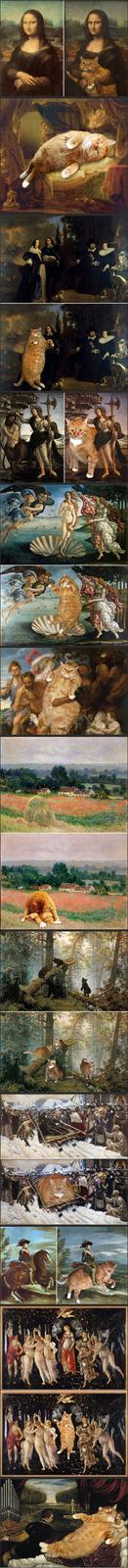 Cat in Famous Paintings