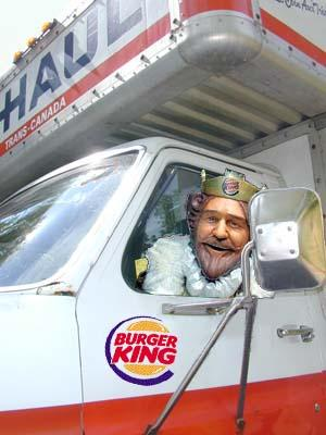 Burger King u-haul truck