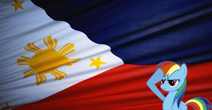 Dash and the Philippines flag