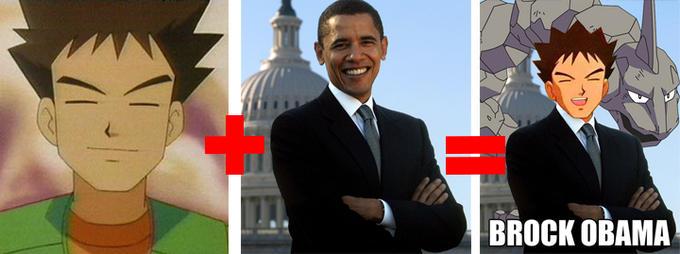 Brock+Obama=BROCK OBAMA