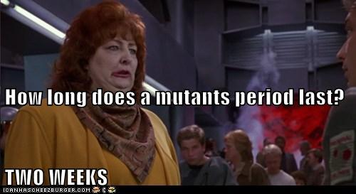 How long does a mutant's period last?
