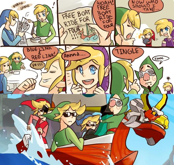 Legend of Zelda Four Swords edition