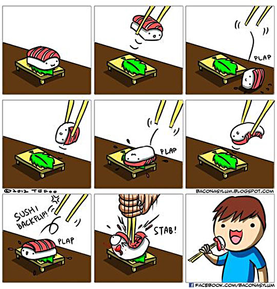 Eating Sushi Wrong But The Fast Way