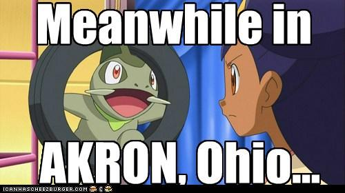 Meanwhile in Akron Ohio