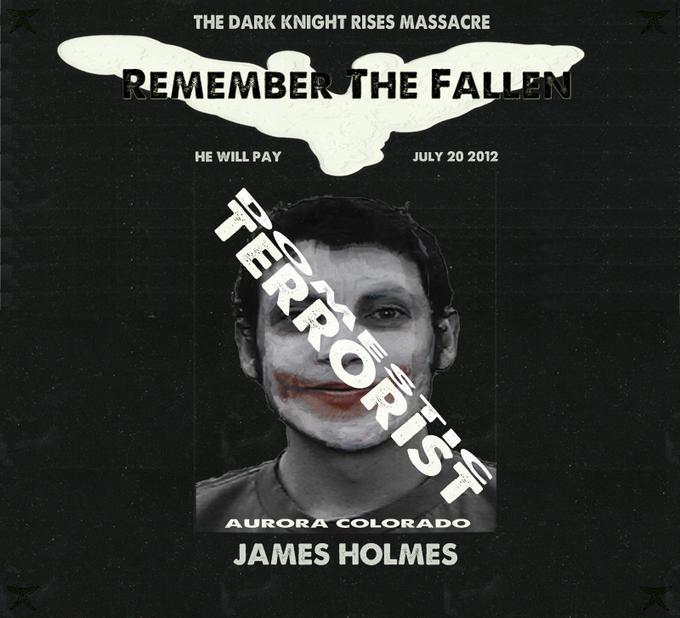 """James Holmes Domestic Terrorist"" -Dark Rabbit Studios"
