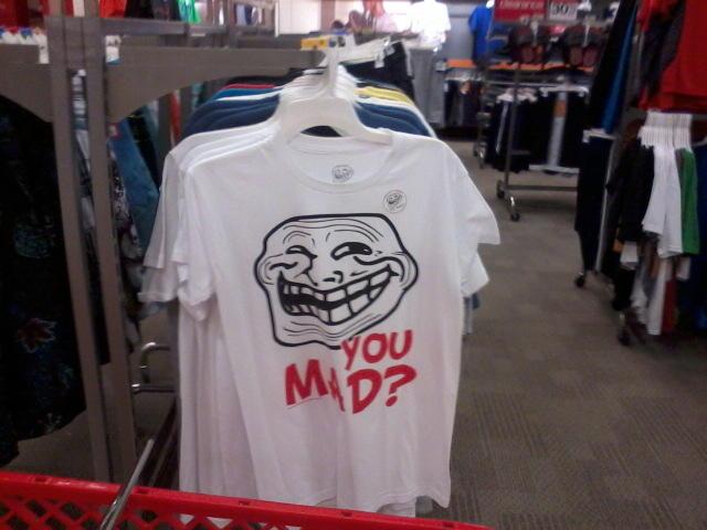 Troll face shirt at Target