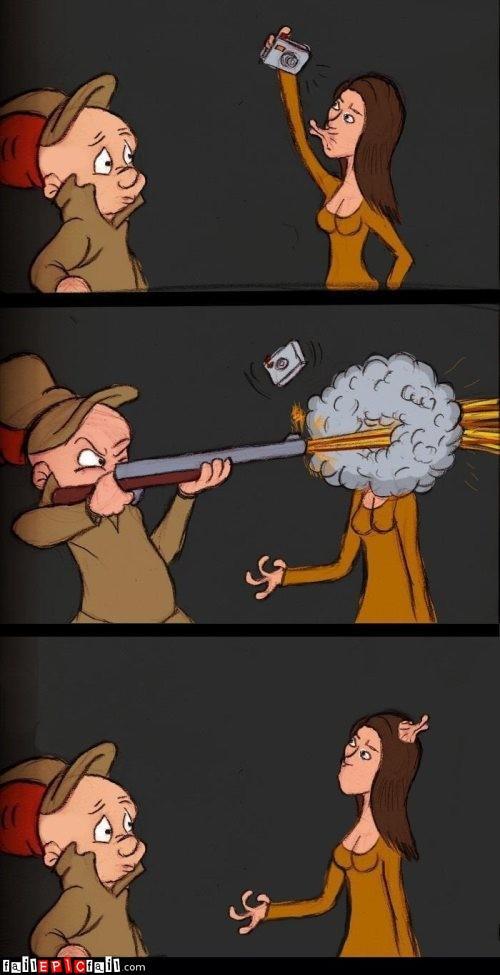 elmer fudd duckface