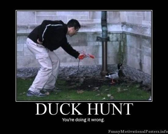 duck hunt IRL fail   Duck Hunt   Know Your Meme