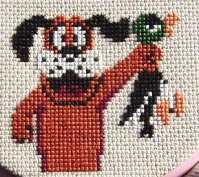 duck hunt cross stitch embroidery