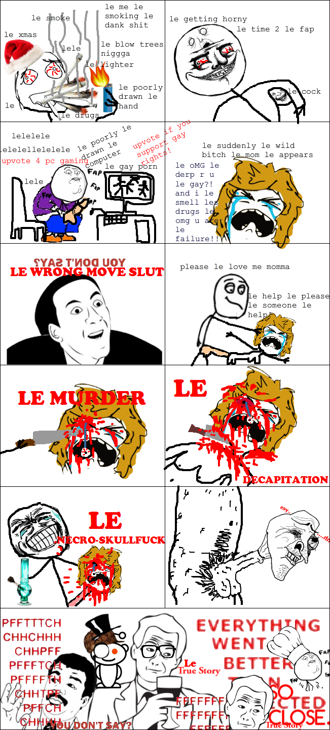 Le ragecomic about le gay rights