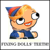 Hermey the fsjal Elf Wants to Fix Your Dolls' Teeth