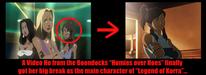 Korra's REAL past life...on The Boondocks