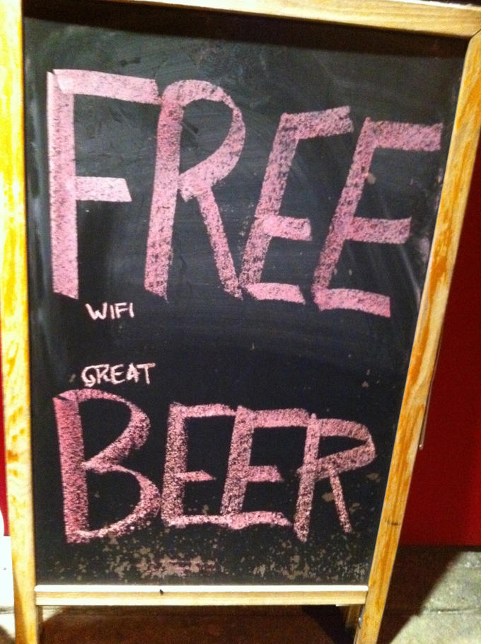 FREE (wifi) (great) BEER