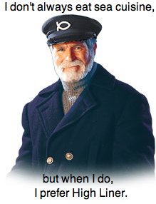 High Liner's Mascot = Most Interesting Man In The World?