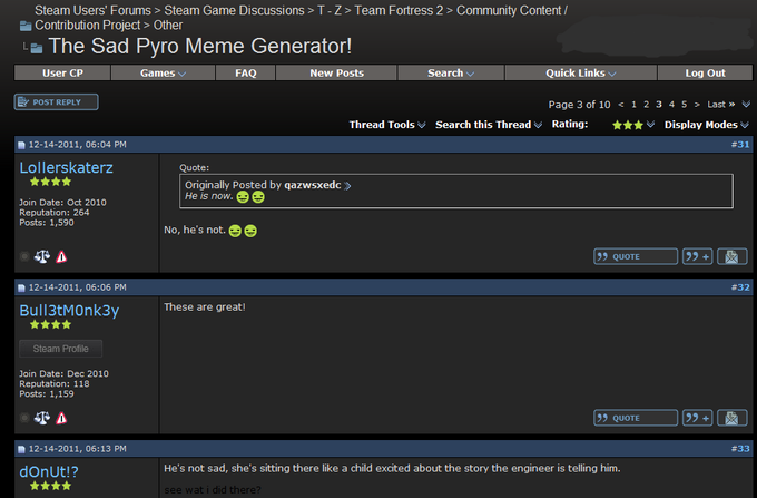 Steam Forums Sad Pyro
