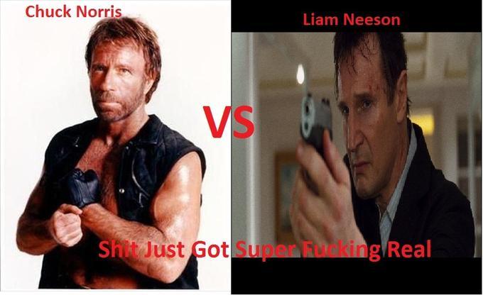 Chuck Norris VS Liam Neeson
