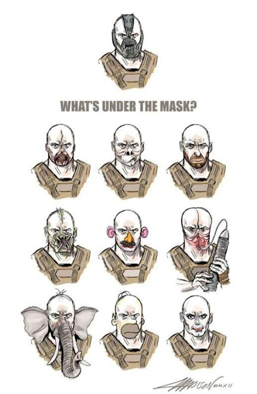 What's Under Bane's Mask