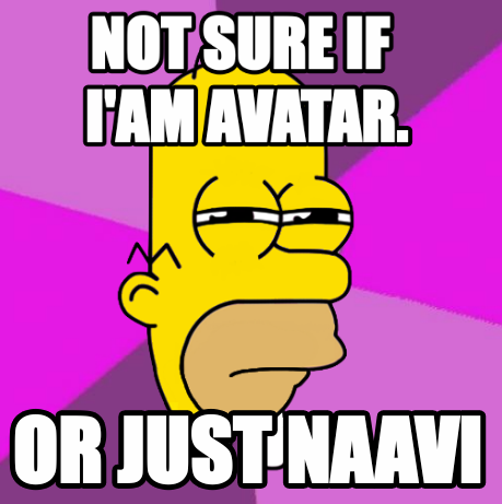 "Avatar Mr. Sparkle (simpsons) Fry Futurama ""I Am not sure if X"""