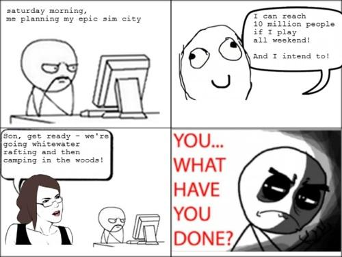 Le me Playing SimCity