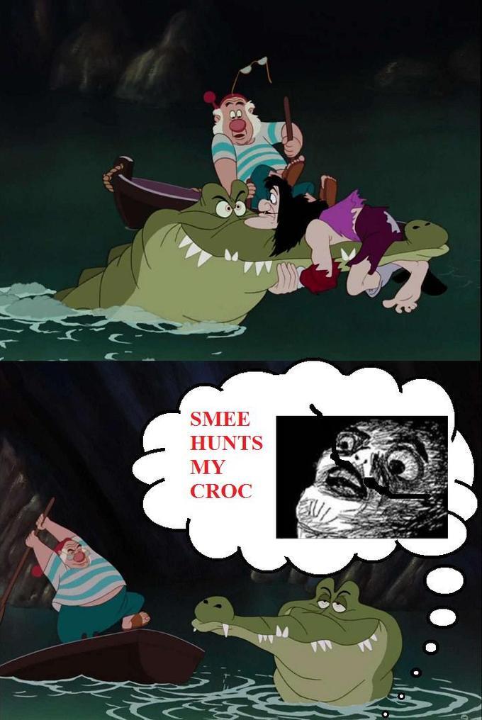 Smee Hunts My Croc
