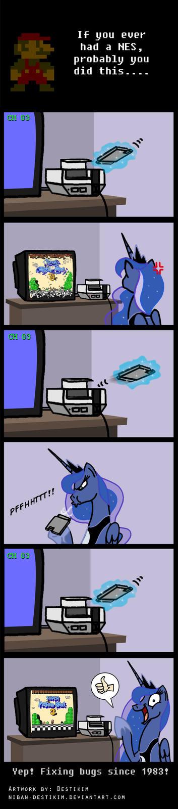 8-bit Gamer Luna - Blow it