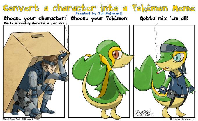 Character into Pokemon Meme - Solid Snivy by http://taricalmcacil.deviantart.com/