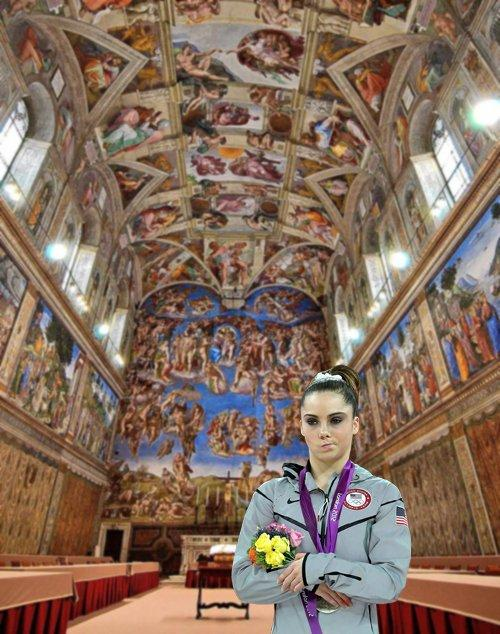 The sistine chapel is not impressive