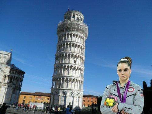 An unimpressive leaning tower