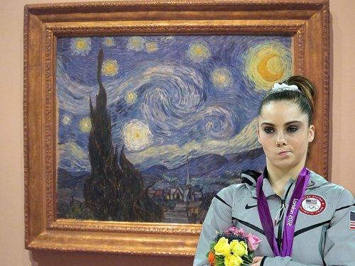 Art was never impressive, at least for McKayla