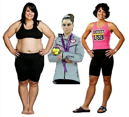 You were the first woman to win 'The Biggest Loser'? McKayla is Not Impressed.