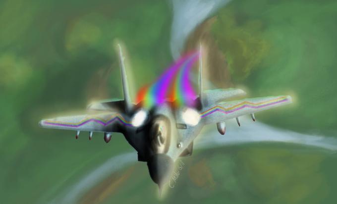 MiG 29 Rainbow Dash-ified