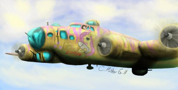 Fluttershy in a B-17