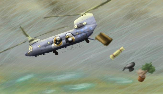 Derpy Hooves in a CH-47