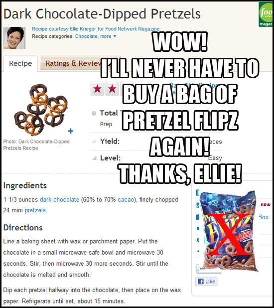 815 dark chocolate 2 pretzel sugarboo food network recipe reviews
