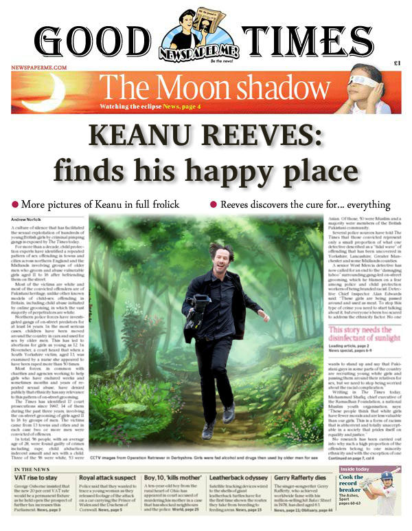 Keanu Finds his Happy Place