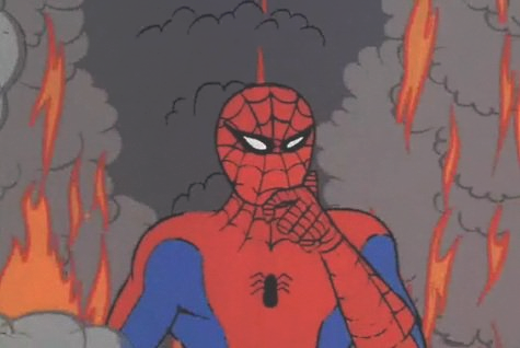 Spidey is on fire - Clean