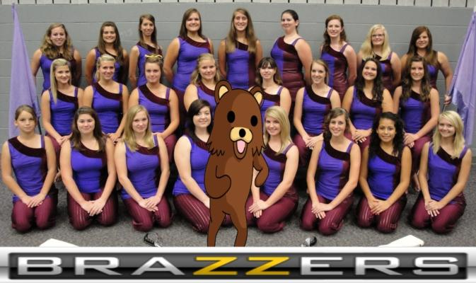Pedobear the mascot for all Flag Girls