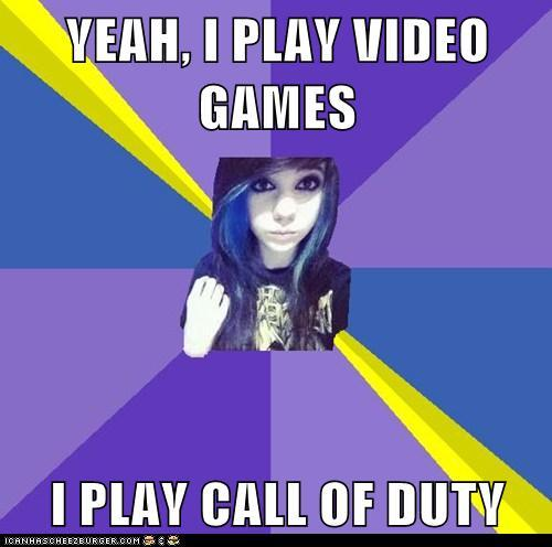 FAKE GAMER GIRL call of duty