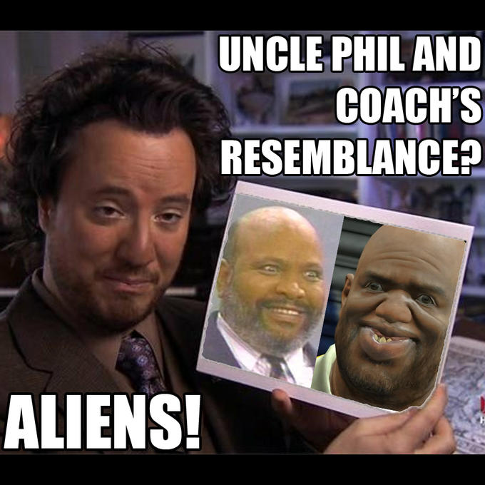 Uncle Phil and Coach's resemblance? Aliens!