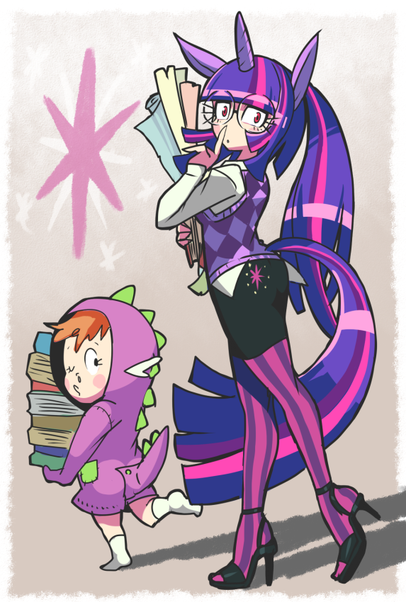 a73 humanized twilight sparkle and spike my little pony friendship is