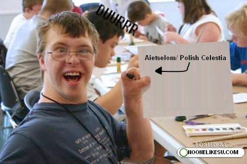 I got a photo of aietselom/Polish Celestia