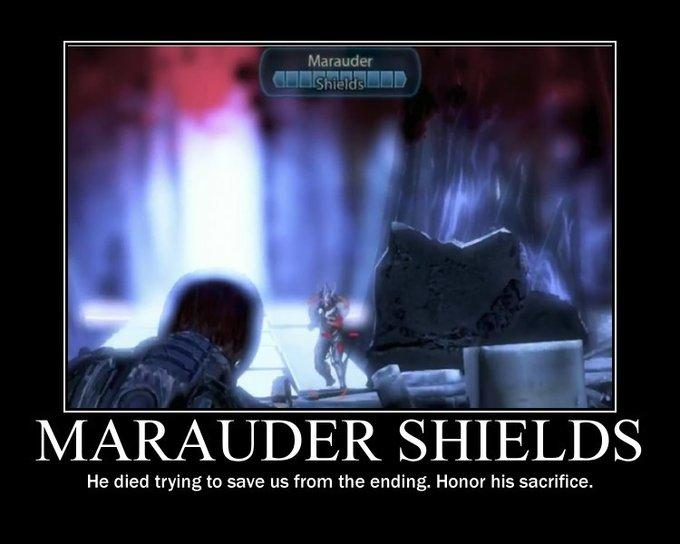 Marauder Shields motivation