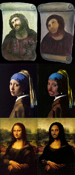 Amateur Restores Famous Paintings