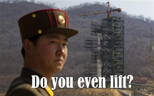 North Korean Rocket, do you even lift?