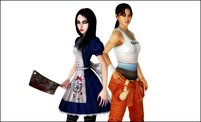 Alice And Chell by jagged66