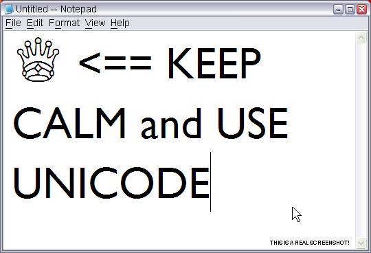 Keep Calm and Use Unicode