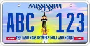 Land Mass License Plate