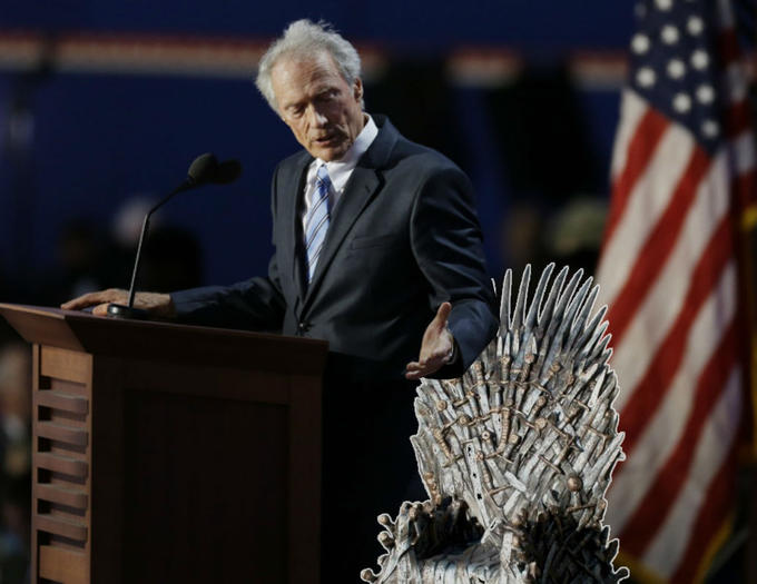 Clint Eastwood invisible Game Of Thrones chair