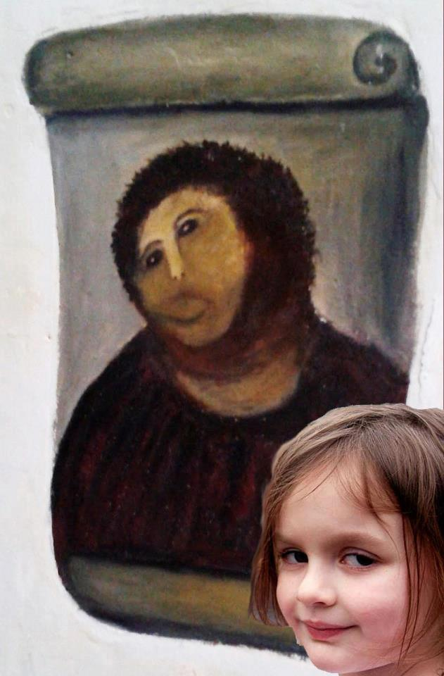 Disaster girl vs Ecce Homo